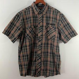Harley Davidson . Button Down Short Sleeve Shirt L